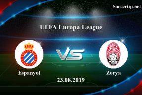 Espanyol vs Zorya Prediction, Betting Tips –  23/08/2019