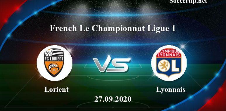 Lorient vs Lyonnais Prediction, Betting Tips –  27/09/2020
