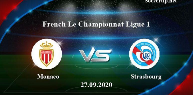 Monaco vs Strasbourg Prediction, Betting Tips –  27/09/2020